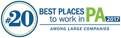 Ranked 20th best place to work in PA