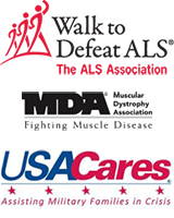 Walk to Defeat ALS, The ALS Association | MDA Muscular Dystrophy Association, Fighing Muscle Disease | USA Cares, Assistin Military Family in Crisis