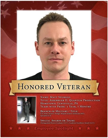 Matt Sturgill - Veteran