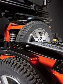 NEW optional LED fender lights: Now available on the Q6 Edge® 2.0