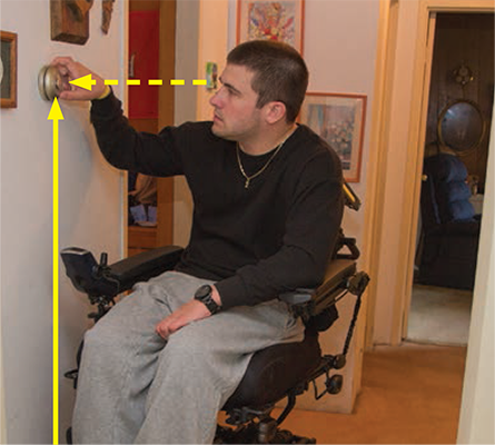 Kiel adjusts the thermostat.