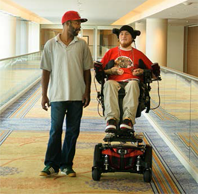 Jesse walking speed at eye level with friend