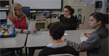 Zoe in a study group