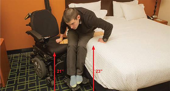 Kiel loses his balance during transfer.