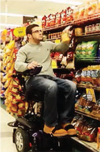 Kiel at the grocery store.